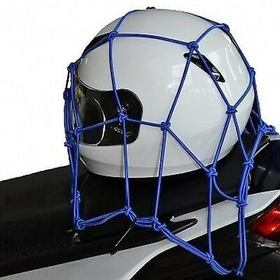 "Oxford Cargo Net 6 Hook Motorcycle Motorbike Luggage Blue 12"" x 12"" OF129 T"