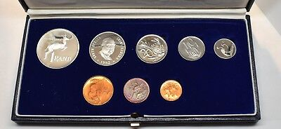 1982 South Africa Proof Set Silver One Rand Coin & Some Toning