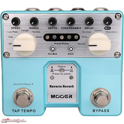MOOER Twin Series Reverie Reverb Digital Reverb and Modulation Pedal