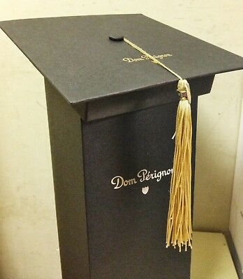 New Dom Perignon Graduation Cap Box Topper & Gold Tassel (With Bonus: Gift Bag)