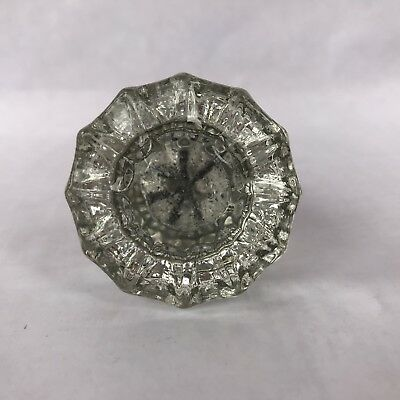 Antique Brass And Crystal Clear Glass Door Knob Vintage Hardware