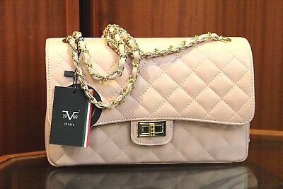 ee28d37ecc VERSACE 19.69 Women s 100% Leather Salmon Quilted Handbag Made in Italy