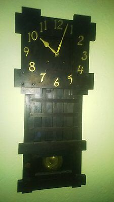 Vintage Arts and Crafts Mission Wall Clock