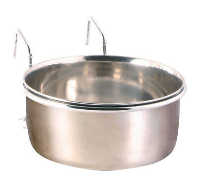 Trixie Clip On Stainless Steel Bowl with Holder for Crate/Cage 300ml Dog Cat