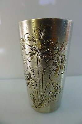 Old Solid 875 Solid Silver Russian Hallmarked Cup/goblet