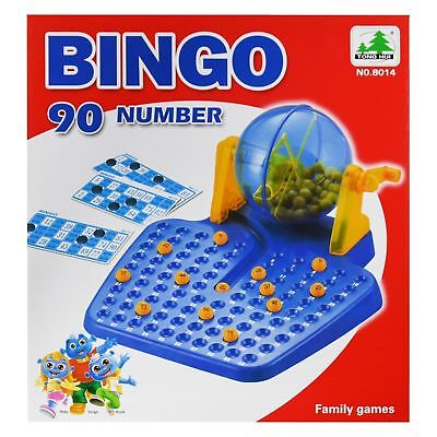 New Bingo Lotto Lottory Traditional Family Game Set 90 Balls 48 Cards