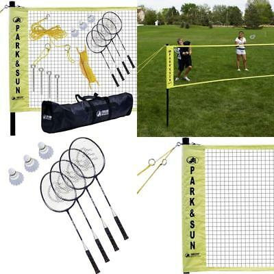 Dunlop Outdoor Sports Volleyball Set: Portable Net With Poles, Ball & Air Pu