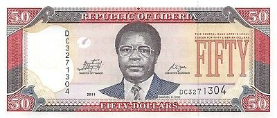 Liberia 50 Dollars, 2011 P.29, Uncirculated Unc