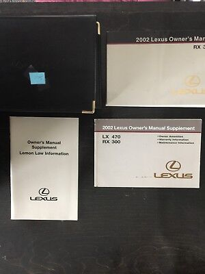 2002 lexus rx300 owners manual set with cover case 19 79 picclick rh picclick com 2002 Lexus RX300 Under Hood Lexus RX300 Repair Manual