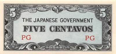 Philippines 5 Centavos Japanese Military Government Occupation 1942 circulated