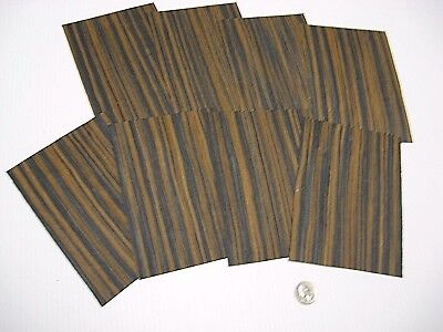 1 Lot Of 8Pcs Macassar Ebony Raw Veneer Shorts, Lot #168
