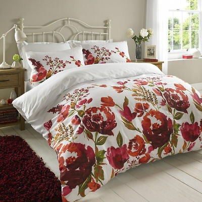 3 Piece Duvet / Quilt Cover with Pillow Case Bedding Florance Single Double King