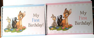 1st Birthday Guest Book, Bambi, Details, Gift Page, 20 Pages A5 size