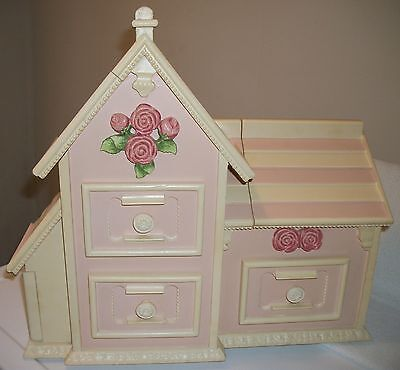 Home Interiors Kids Homco VERY RARE Princess Wood Jewelry Box Hard To Find