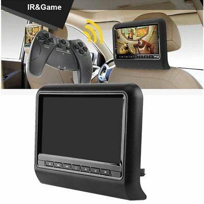 """9""""Car Headrest Monitor DVD  LCD Screen Backseat Display IR/FM With Remote DW"""