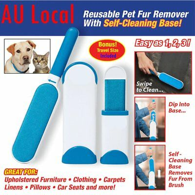 Hurricane Fur Wizard Pet Hair & Lint Remover Magic Cloth Fabric Brusher 2017 MG