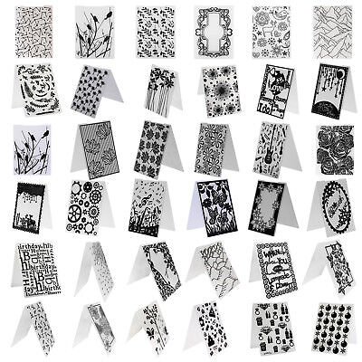 Plastic Embossing Folder Template DIY Scrapbook Paper Card Craft Various Flower