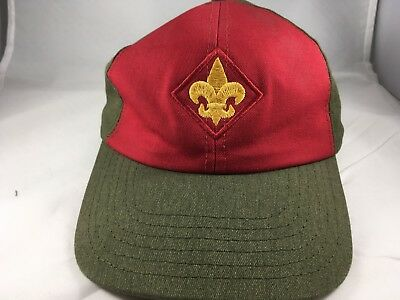 Boy Scouts of America Green Red Adjustable Baseball Hat