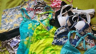 Lot of 8 Mixed Bikini Tops and Bottoms in size S/M