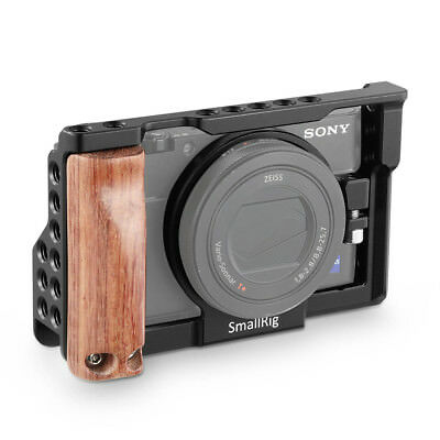 SmallRig Cage for Sony RX100 V/RX100 III/RX100 IV Camera with Wooden Handle Grip