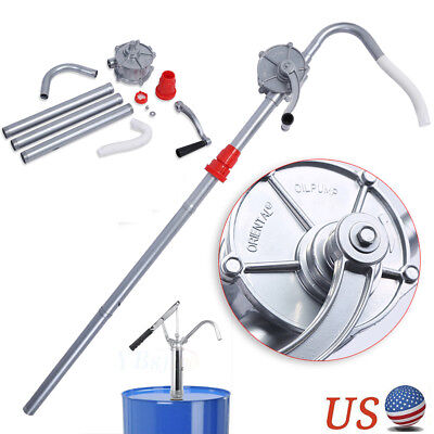 55 Gallon Rotary Hand Crank Oil Barrel Drum Pump Fuel Tank Suction Lever Barrel