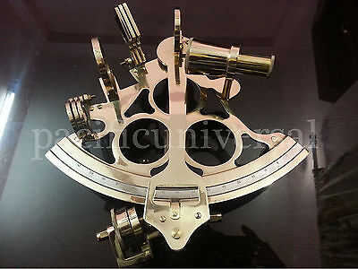 """Handmade Maritime Collectible Working Sextant 10"""" Ship Astrolabe Vintage Gitf."""