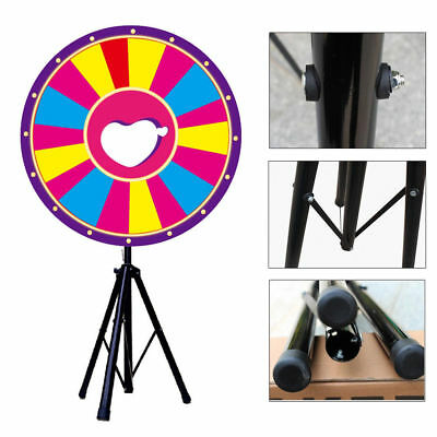 "24""  Prize Wheel Stand Fortune Spinning Game Tabletop Color Dry Erase Carnival"