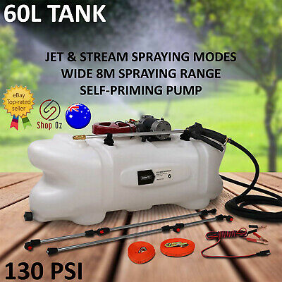 New 60L WEED SPRAYER TANK ATV KILLER Gun Boom Pump Garden Spray Ride On Mower