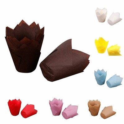 50pcs Paper Tulip Chocolate Cupcake Wrapper Decoration Baking Muffin Paper Liner