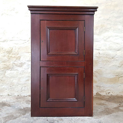 Victorian Mahogany Wall Hanging Double Height Corner Cabinet C19th (Antique)