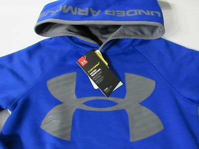 Under Armour Storm1 UA Big Logo Pullover Hoodie Boys Blue/Gray size Youth S,M,XL