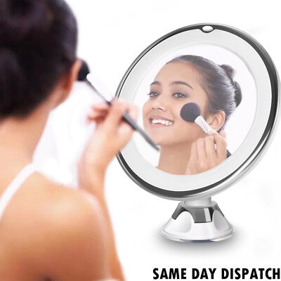 Circular Suction LED Make Up Magnifying Mirror with 360° Rotation #B2
