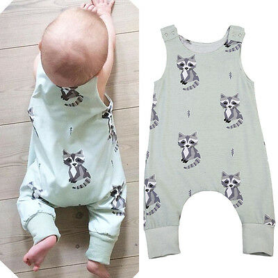 Newborn Baby Boys Girls Floral Cartoon Romper Bodysuit Jumpsuit Outfits Clothes