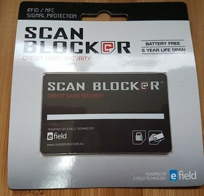 Scan Blocker Genuine Credit Card Security fraud Scam Protection. RFID / NFC