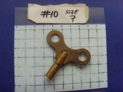 Old Clock key,   REF:k#10 size 7