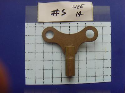 Old Clock key,   REF:k#5.size 14