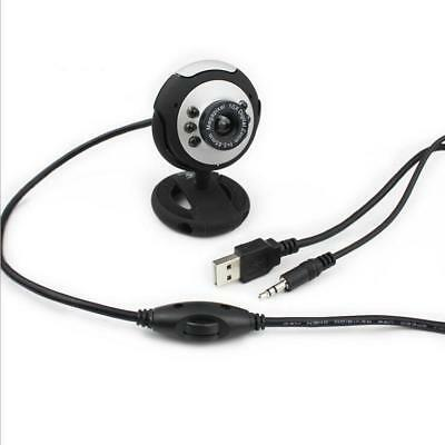 For PC Laptop Computer Video Camera 50.0M USB Webcam With Mic Microphone 6 LED
