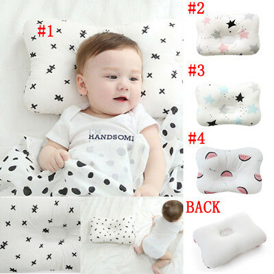 Support Prevent Anti Roll Baby Pillow Flat Head Neck Toddler Memory Foam Cushion