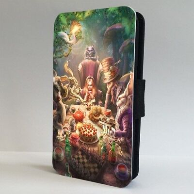 Alice In Wonderland Tea Party Hatter FLIP PHONE CASE COVER for IPHONE SAMSUNG