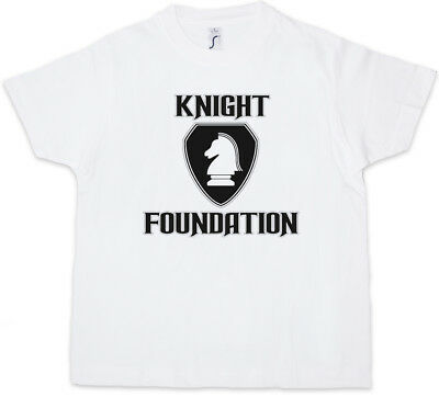 WHITE KNIGHT FOUNDATION LOGO Kids Boys T-Shirt Rider Serie hasselhoff K.I.T.T.