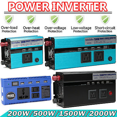Car Boat Power Inverter DC 12V to AC 110V Power Tool Real High Power Converter