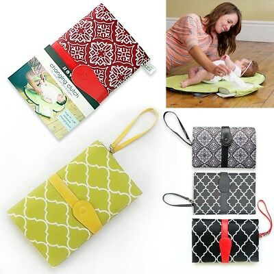 Baby Nappy Bag Diaper Changing Change Clutch Mat Foldable Pad Handbag Wallet Pop