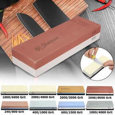 1000/4000 2000/5000 3000/8000 Grit Knife Whetstone Sharpener Stone With Base