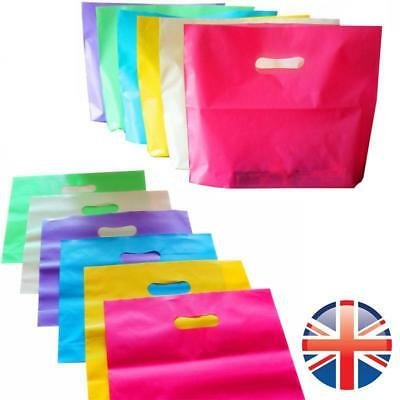 *UK Seller* 1~100X EXTRA STRONG Plastic Carrier Bag Gift Handle Retail Shop