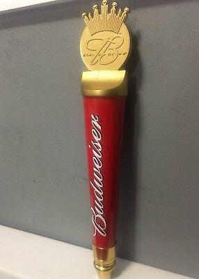 "Budweiser Red Signature Classic Retro 14"" Tall Beer Tap Handle BRANd NEW"