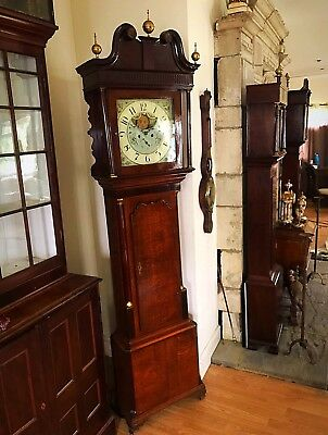 Mahogany And Oak 8 Day Longase Clock Possibly By Lister Of Halifax
