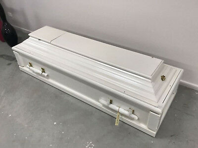 NEW Hand Made Mahogany York Burial Coffin Casket RRP-$6,575 FREIGHT AVAILABLE
