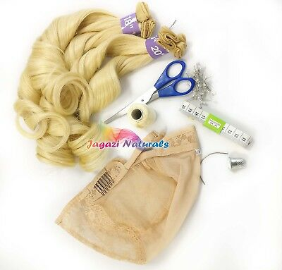Complete Wig Making Kit:Elastic Tape,Weaving Trade, measuring Tape, Scissors,set