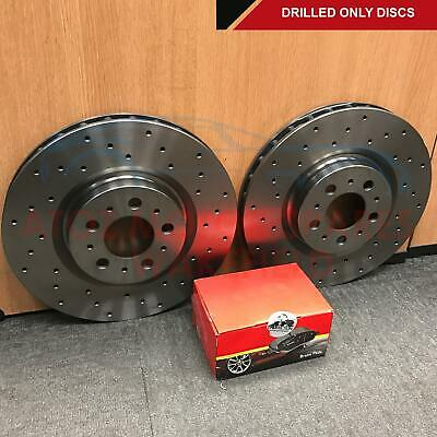 FOR RANGE ROVER SPORT 3.6 TDV8 REAR DRILLED BRAKE DISCS MINTEX PADS SENSOR 350mm