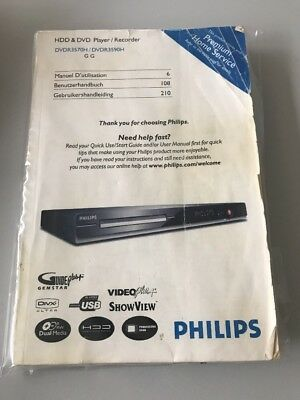 Manual: Philips DVDR3570H / DVDR3590H HDD&DVD Player / Recorder